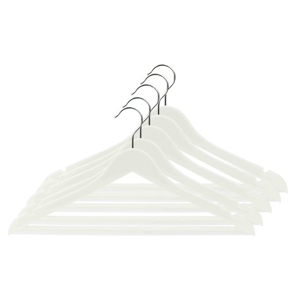 Home Basics White Plastic Hanger (Set of 5)