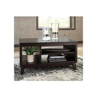 Signature Design by Ashley, Chanceen Contemporary Dark Brown Coffee Table