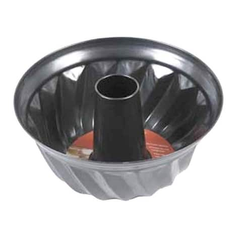Home Basics Black Non-stick Fluted Cake Pan