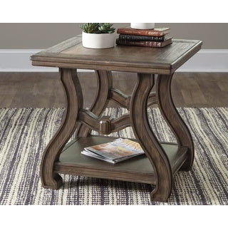 Signature Design by Ashley, Tanobay Traditional Gray End Table