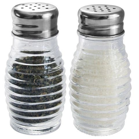 Home Basics 2-piece Glass Beehive Salt and Pepper Set