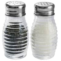 Home Basics 2-piece Glass Beehive Salt and Pepper Set