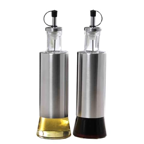 Home Basics Essence Collection 2-piece Oil and Vinegar Set