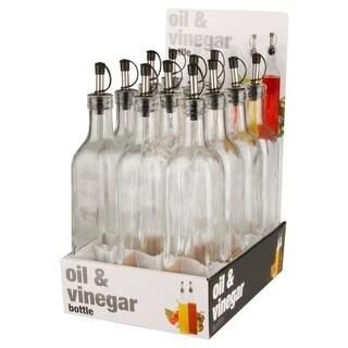 Home Basics Clear Glass Oil and Vinegar Bottle
