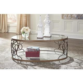 Signature Design by Ashley Fraloni Traditional Bronze Coffee Table