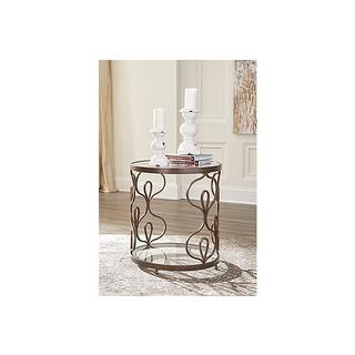 Signature Design by Ashley Fraloni Traditional Bronze End Table