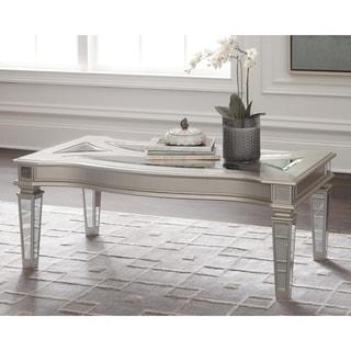 Tessani Contemporary Silver Coffee Table