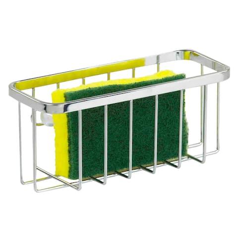 Home Basics Chrome Plated Steel Sponge Holder