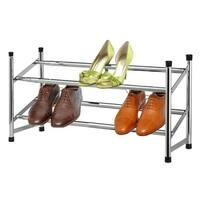 Sunbeam Chrome 2-tier Expandable Shoe Rack