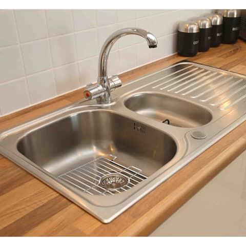 Home Basics Chrome Small Sink Protector