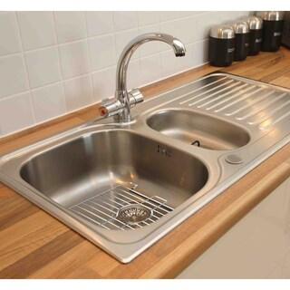 Home Basics Chrome Small Sink Protector