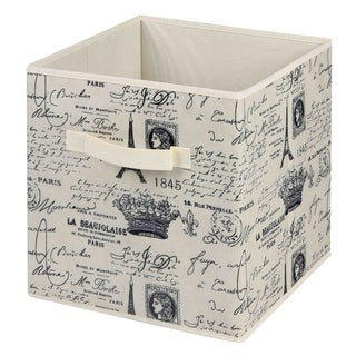 Home Basics Paris Collection Natural Non-woven Storage Bin