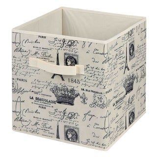 Home Basics Paris Collection Natural Non-woven Storage Bin