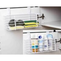 Home Basics White Over Cabinet Basket