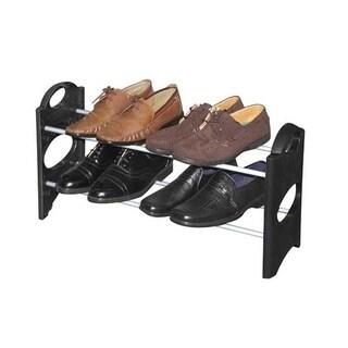 Sunbeam Black Plastic 6-pair Shoe Rack