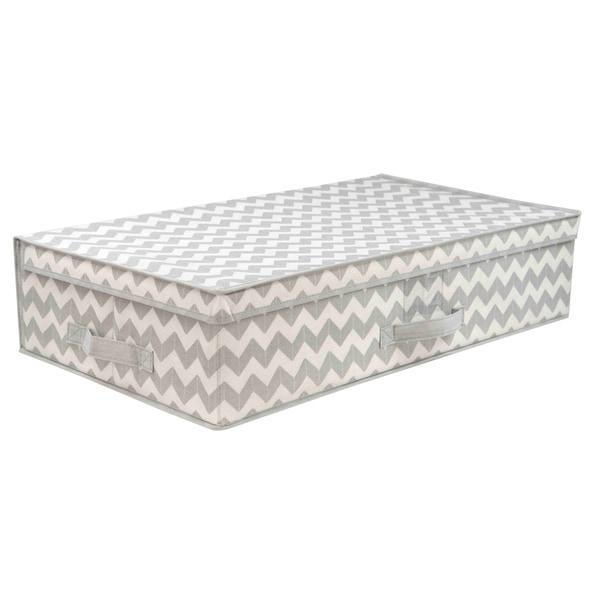 Home Basics Grey Chevron Underbed Storage Box