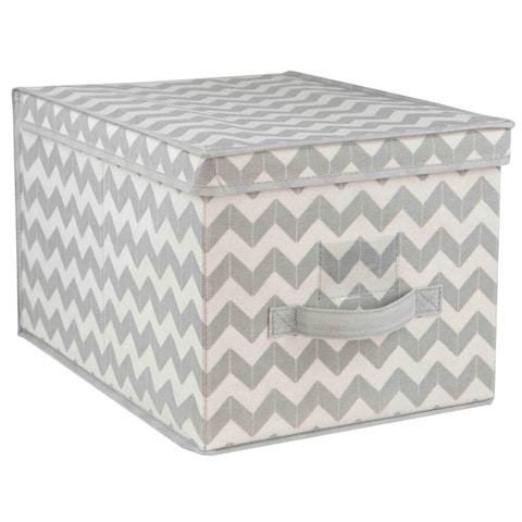 Home Basics Grey Chevron Storage Box