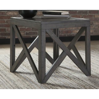Haroflyn Gray Contemporary End Table
