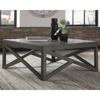 Haroflyn Gray Contemporary Cocktail Table