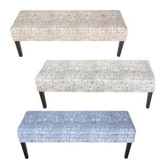 Kaya Sediment Trim Upholstered Classic Long Bench - Espresso Legs