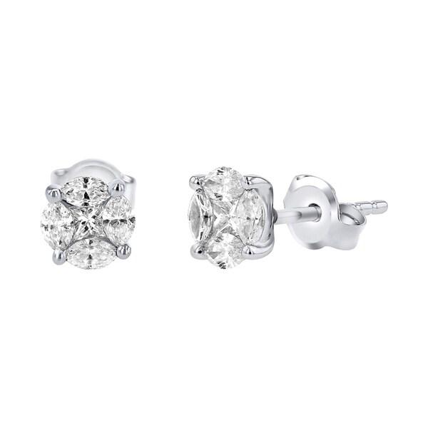 Shop 14K White Gold 2 3ct TDW Diamond Stud Earrings (SI2-I1) - On ... d653f6229