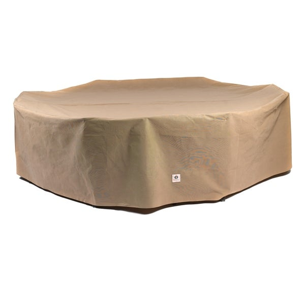 Duck Covers Essential Rectangle/Oval Patio Table with Chairs Cover