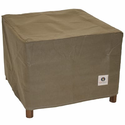 Duck Covers Essential Square Patio Ottoman or Side Table Cover