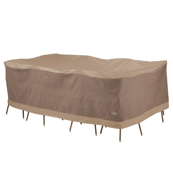 Duck Covers Elegant Rectangle Patio Table with Chairs Cover. Opens flyout.