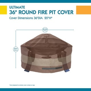 Duck Covers Ultimate Round Fire Pit Cover (36dia x 20h)