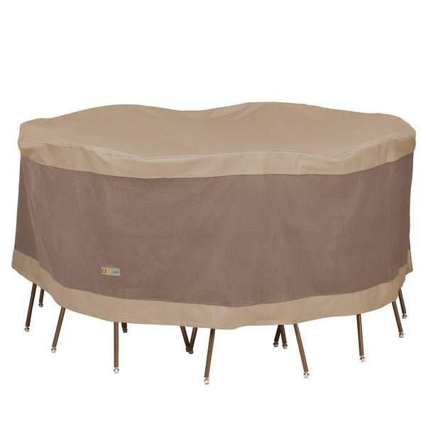 Duck Covers Elegant Round Patio Table with Chairs Cover. Opens flyout.