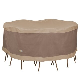 Duck Covers Elegant Round Patio Table with Chairs Cover