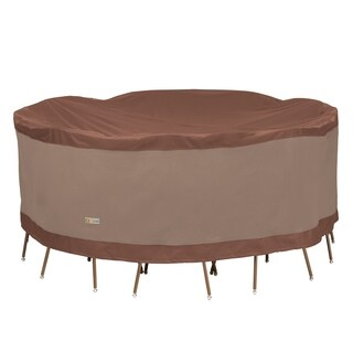 Duck Covers Ultimate Round Patio Table with Chairs Cover