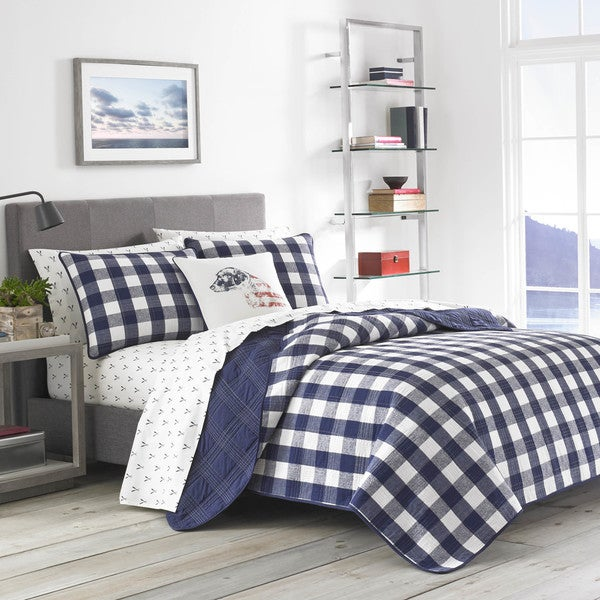 Ed Bauer Lake House Plaid Quilt Set