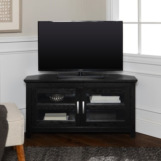 Copper Grove Bow Valley Black Wood 44-inch Corner TV Stand