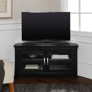 Clay Alder Home Hardy Black Wood 44 Inch Corner Tv Stand