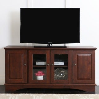 Copper Grove Angelina 52-inch TV Stand, Brown, Entertainment Center, 4-door Media Console - 52 x 16 x 24h