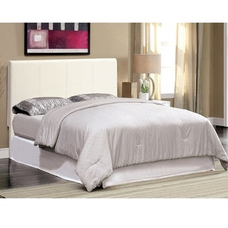 Furniture of America Lala Modern White Twin Leatherette Platform Bed