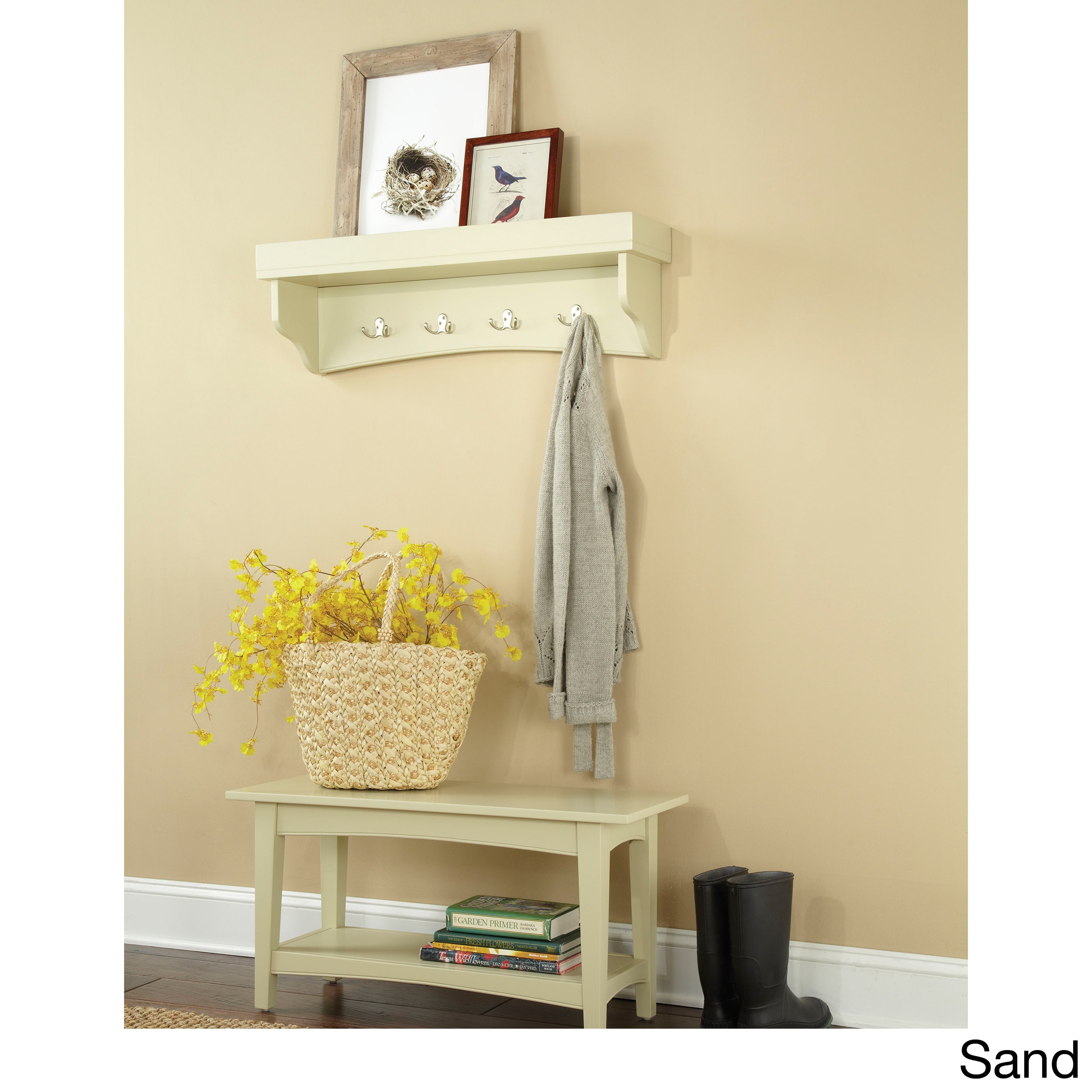 Buy Cream Bookshelves & Bookcases Online at Overstock.com | Our Best ...
