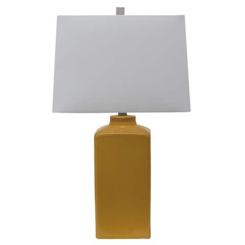 Porch Den Spruce 26 5 Inch Square Ceramic Table Lamp