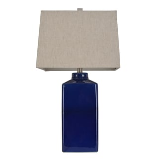 Havenside Home Yorkville 26.5 Inch Square Ceramic Table Lamp