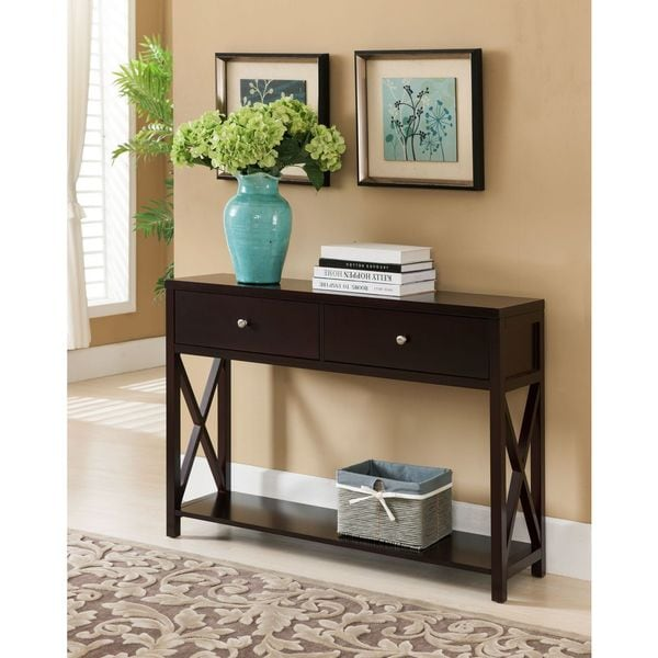 Copper Grove Foxtail Dark Cherry Console Table