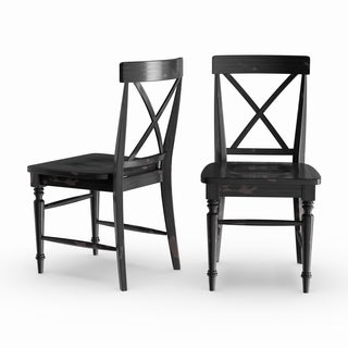Gracewood Hollow Glendon Black Hand Rubbed Dining Chair (Set of 2)