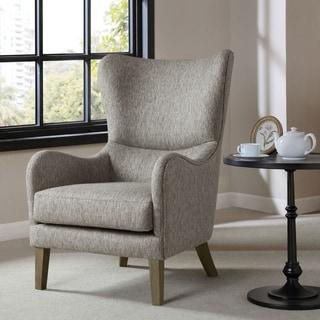 Strick & Bolton Mitoraj Grey Swoop Wing Chair