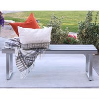Havenside Home Hampton All-weather Grey Patio Dining Bench