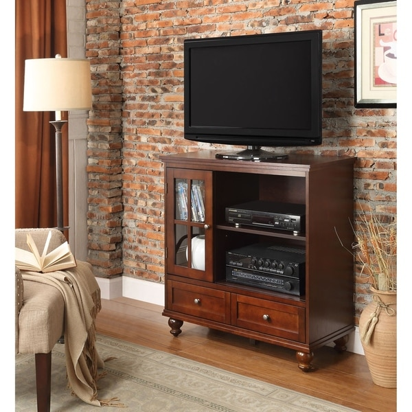 Copper Grove Angelina TV Stand with 2 Drawers and Cabinet. Opens flyout.