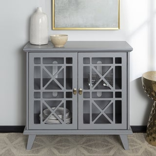 Copper Grove Loches 32-inch Grey Fretwork Entryway Console - 32 x 16 x 30h