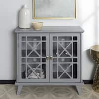 Copper Grove Loches 32-inch Grey Fretwork Entryway Console