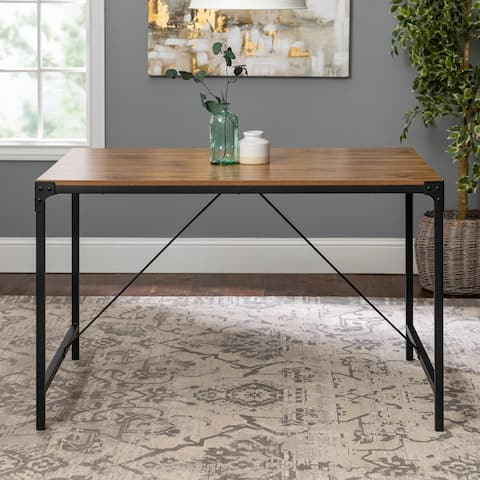 Carbon Loft Edelman 48-inch Angle Iron Dining Table - Barnwood
