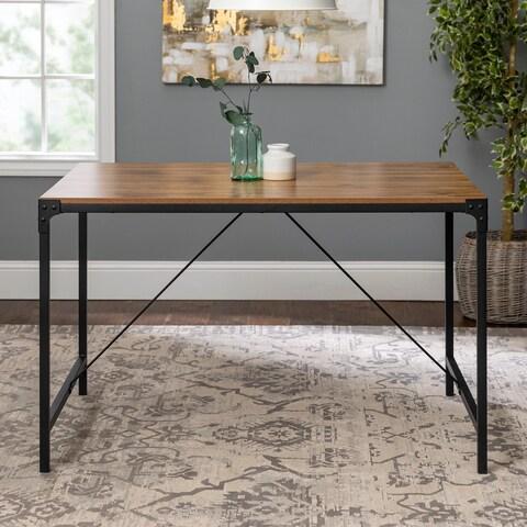 Carbon Loft Edelman Rustic Angle Iron 48-inch Barnwood Dining Table