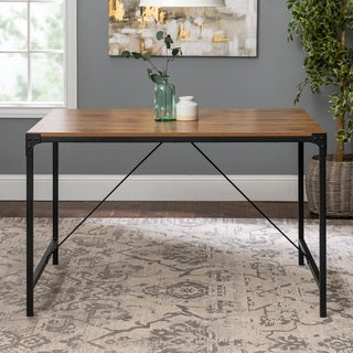 "Carbon Loft Edelman 48"" Angle Iron Dining Table - Barnwood - Metal - 48 x 32 x 30h"